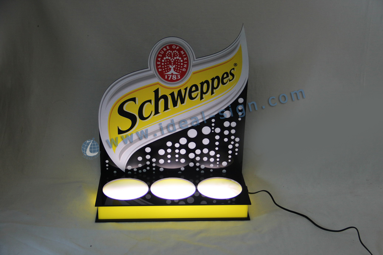 Factory price Schweppes LED Bottle Display