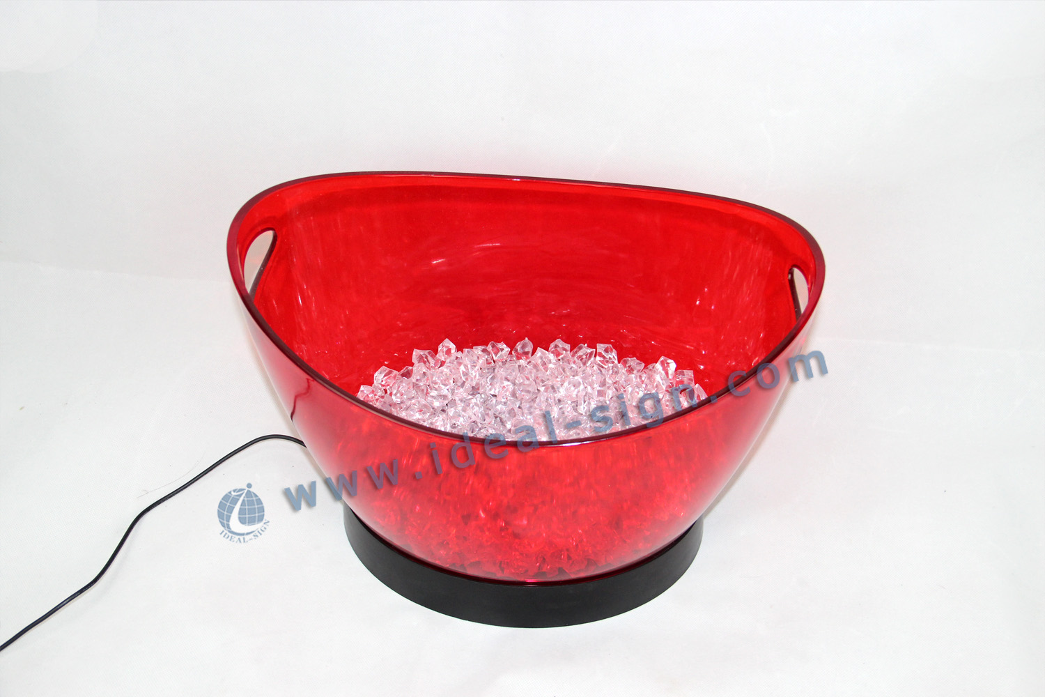 7.5L Plastic LED Ice Bucket Offered Different Color