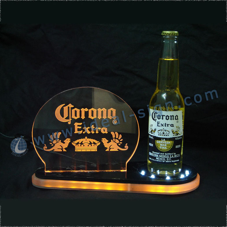 Beautiful LED Liquor Bottle Display Shelf for brand