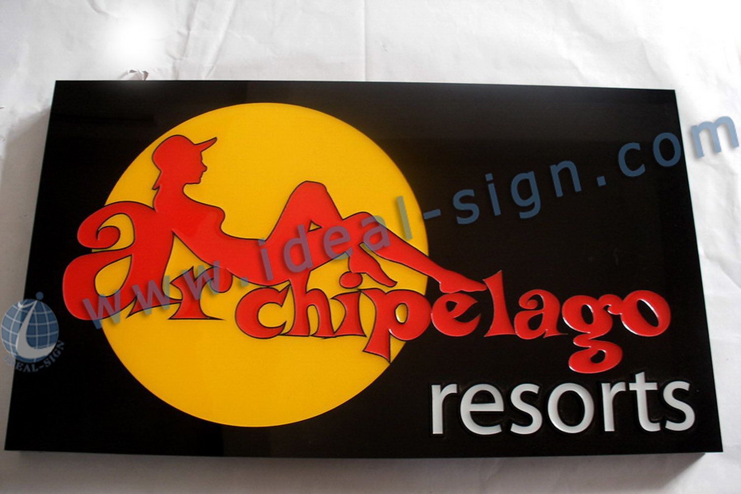 LED Multi Colors Resin Sign