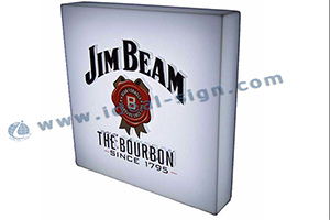 Black STAG Acrylic LED Light Box For Bar Promotion