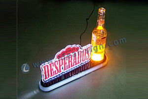 lighted beer bottle display custom made
