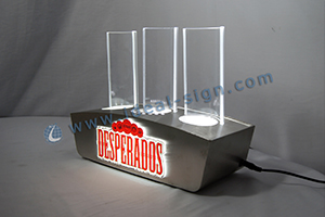 desperados metalic effect bottle display shelf
