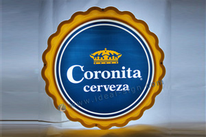 Corona cap shape signs