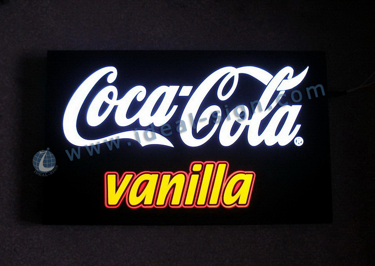 Coca Cola led lighted box