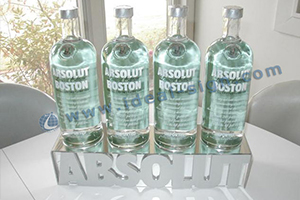 mirror effect acrylic bottle displays