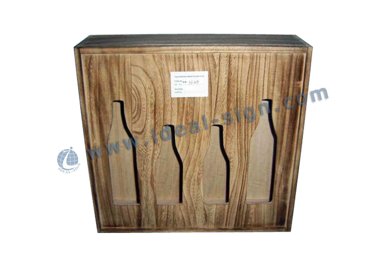 Hollowed-out Wooden Wine Box