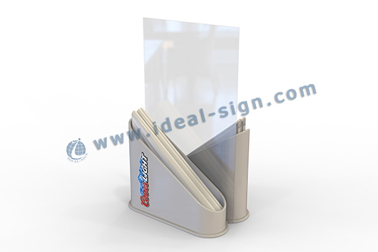 Menu Display with napkin holder