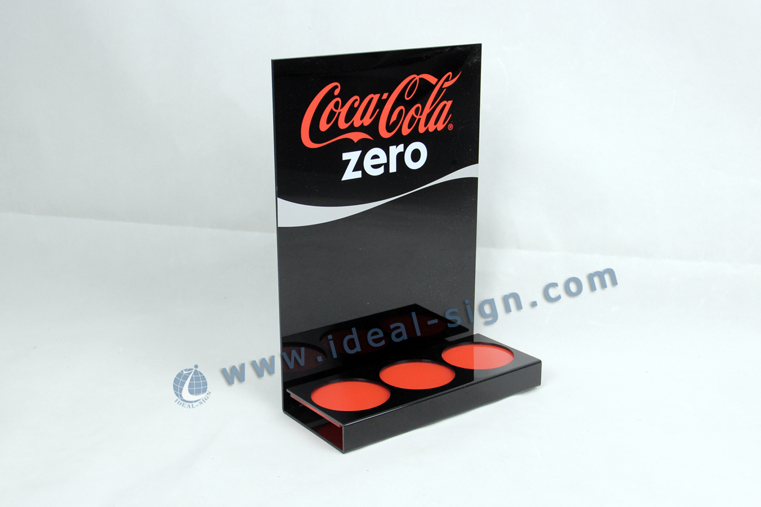 Wholesaler CocaCola Zero Acrylic Liquor Bottle Stand
