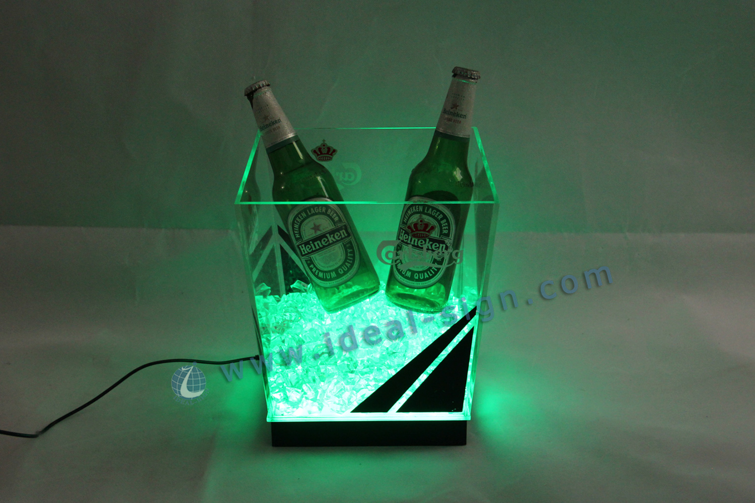 Square Led Bar Ice Bucket Stackable/Colorful Ice Bucket