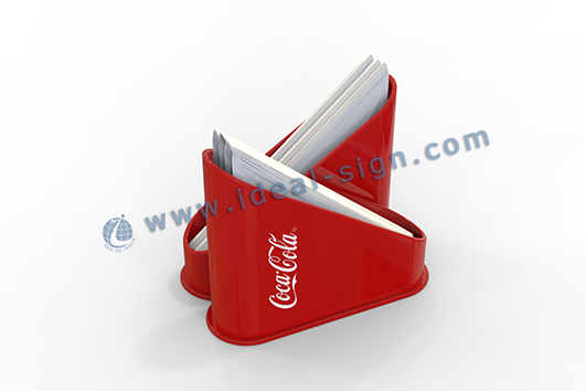 Coca Cola menu display with napkin holder