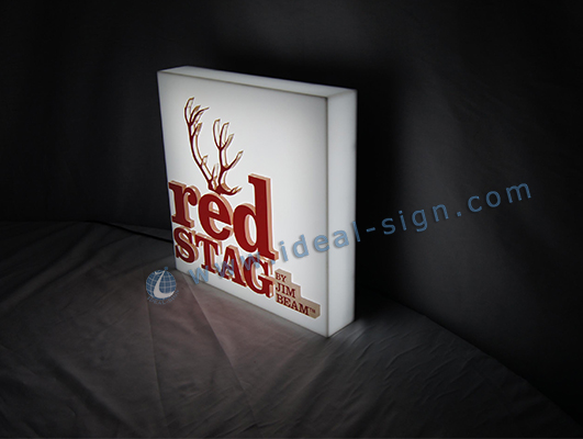 RED STAG Acrylic LED Light Box For Bar Promotion