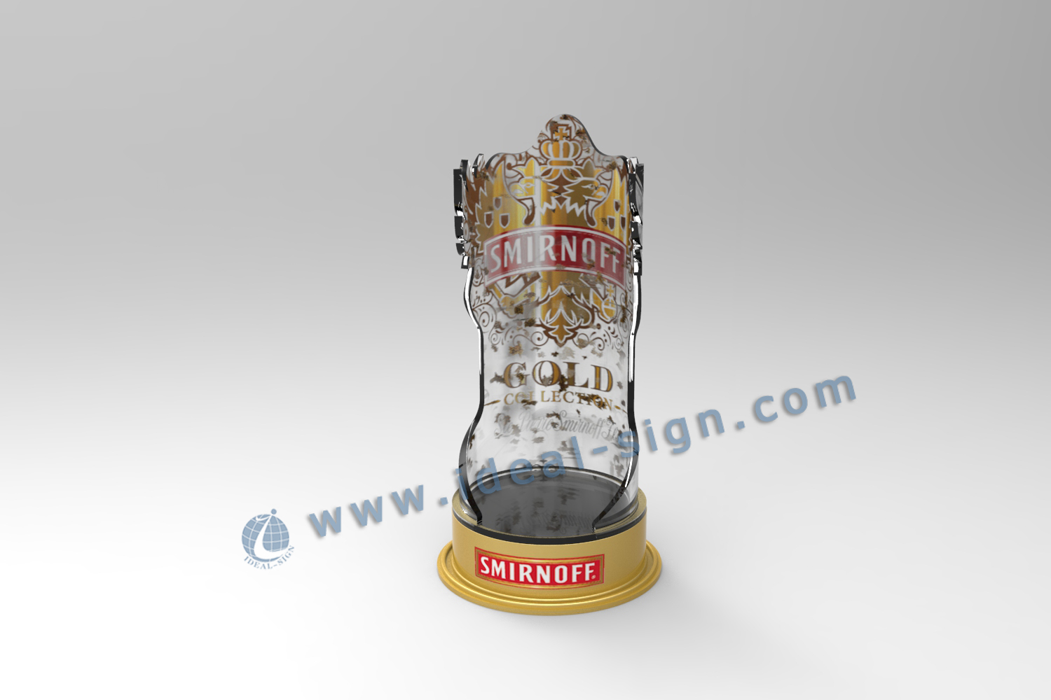 SMIRNOFF LED acrylic bottle stand