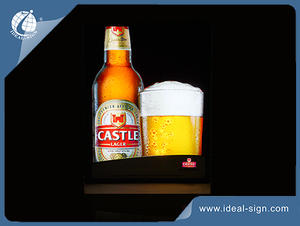 CASTLE Beer Dynamic Acrylic Indoor Led Light Box For Advertising