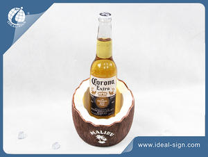 Hot Forma venda de coco Resina Led licor Displays Garrafa