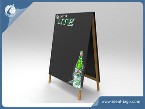Customized Promotional Marketing Chalkboard With Wooden A-frame Stands