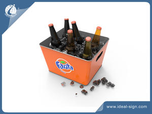 Metal Beer Ice Buckets With CMYK Printing