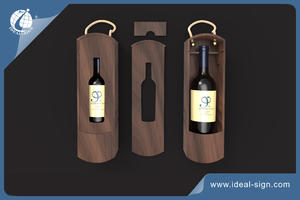 Personalized Paulownia Wood Wine Packing Box To Display Brand