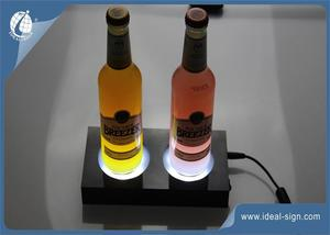 Venta Caliente Rectangular 2-Botella Panel LED Display Bebida