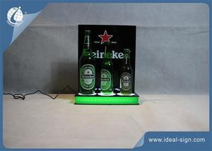 LED Lighted Liquor Acrylic Bottle Display For Beer And Drink Promotion