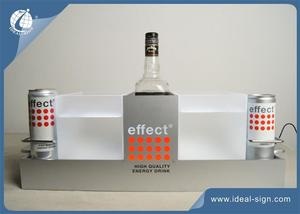 Efeito De Metal LED Iluminado Liquor Bottle Display De Alta Brilhante