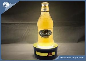 Acrylique LED Lighted Liquor Bottle Display Shelf In Bar Publicité