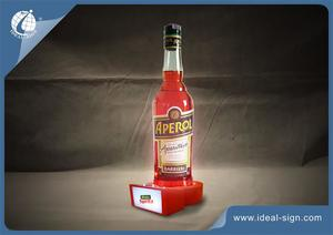 Aperol Orange Acryl LED Wein Schnaps Flasche Display