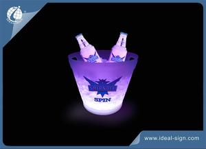 Wholesale custom LED acrylic ice bucket as bar beverage tub and party beverage tub