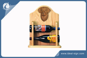 2 Bottles Wooden Rack For Wine Or Liquor Bottle