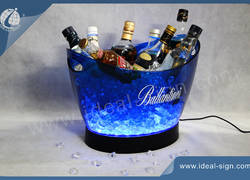 12L PS Champagne Big Light Up LED Ice Bucket In Bar