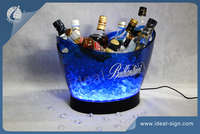 12L PS Champagne Grande Light Up LED cubo de hielo en barra