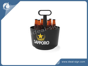 Personalized PS plastic beer ice buckets LED bar ice tubes for wholesale