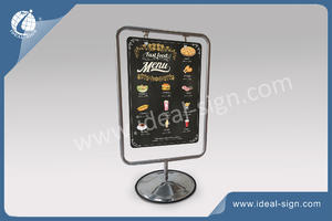 China exporter for metal a frame signs for menu board for beverage brand promotion
