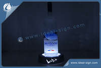 Acrylique Couleur argenté LED Wine Liquor Bottle Display avec le logo d'impression Laser