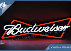 Budweiser Beer PVC optique Neon Signs Circuit Board LED et moulé par injection ABS Cadre