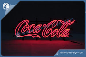 Coca Cola LED Neon Sign With Injection Mould Size 650*270*35mm