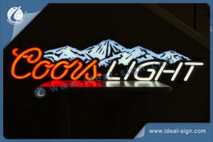 Custom Coors light neon bar signs wholesale personalized beer signs