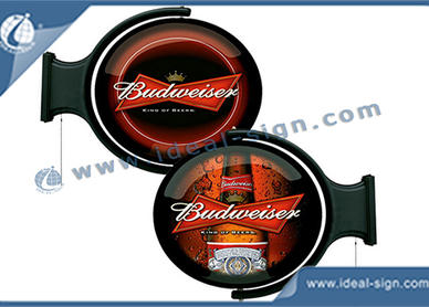 rotating beer signs