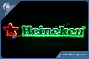 Heineken LED Edge-Lit Display Avec 70MM De Base D'aluminium