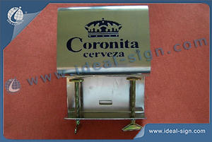 Coronita Stainless Steel Bar Top Abridor De Garrafas Com Exposição Mountable
