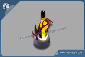 Red Stage Logo Resin Led Illuminated Bottle Displays Different Size And Design Are Available