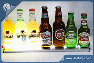 Custom made lighted bottle stand display panel for wholesale
