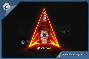 Chivas Triangle Forme Bouteille LED Glorifier Double