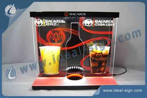 BACARDI Bottle Shape LED Lighted Liquor Bottle Display