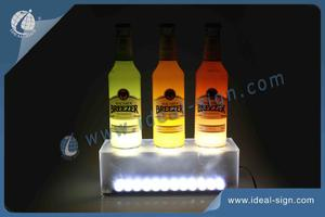 Frosted Clear Color LED Liquor Bottle Display / Bottle Display Rack
