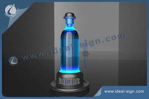 LED Liquor Bottle Hat Forma Broker Glorifier Para Marcar Promover