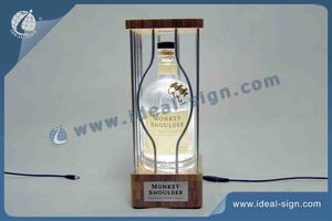 Singe épaule Bamboo LED Liquor Bottle Display