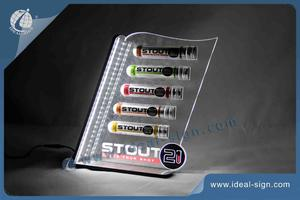 Stout Acrylic LED Lighted Liquor Shelf For Brand Displaying