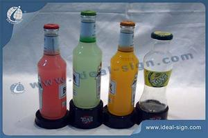 Plastic 4-Bottle Holder Liquor Bottle Glorifier For Tina Display