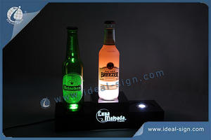 Customized LED Acrylic Bottle Display /Liquor Bottle Display Shelf